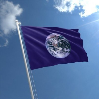 Blue Marble Earth Flag (3' X 5')