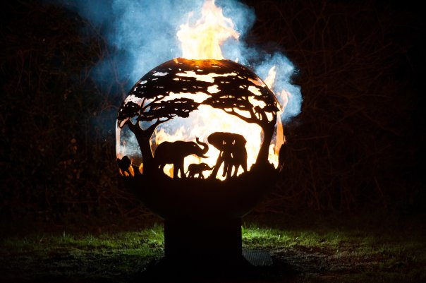 800mm Africa Themed Firepit 800AfricaOL