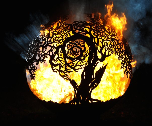 650mm Twisted Tree Firepit