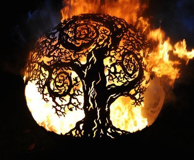 900mm Twisted Tree Firepit