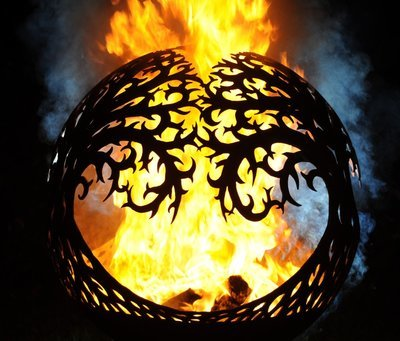 650mm Tree of Life Sphere Firepit