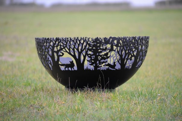 800mm Winter Themed Firepit Bowl