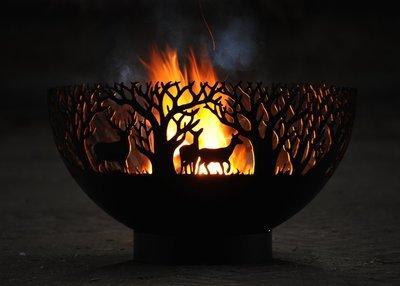 650mm Winter Themed Firepit Bowl