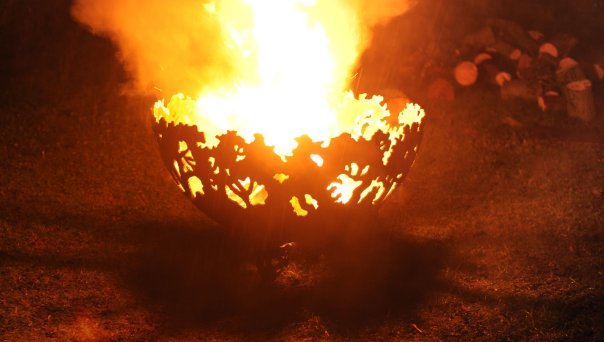 650mm Forest Themed Firepit Bowl