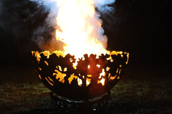 800mm Forest Themed Firepit Bowl