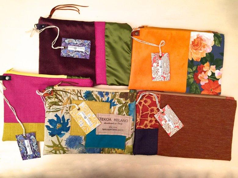 Ordina la pochette abbinata ai tessuti della tua borsa!