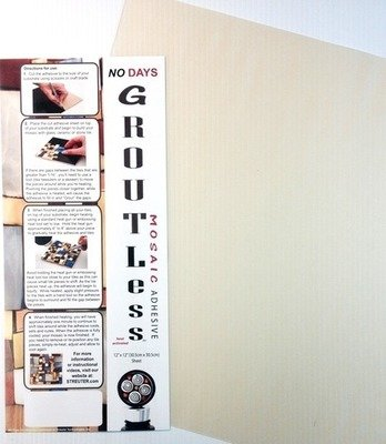 """NO Days Groutless, Clear, 1 Sheet Roll 12"""" x 48"""""""