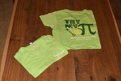 Ladies Key Lime Pie  V Neck T-Shirt