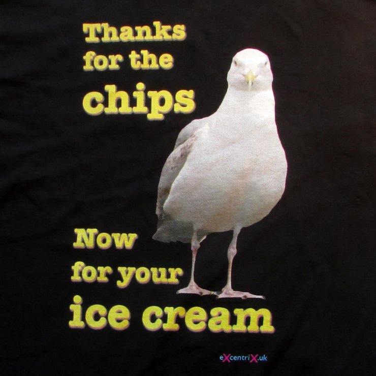 eXcentriX - Thanks for the chips, now for your ice cream T-shirt
