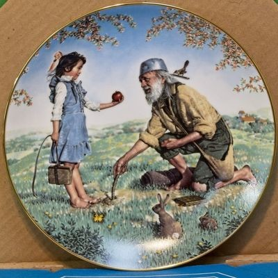 1983 Crown Parian Porcelain Collector Plate, American Folk Heroes, Johnny Appleseed