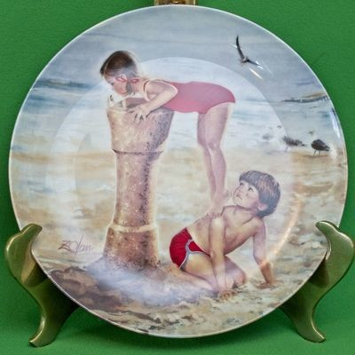 1987 Donald Zolan 1st Issue Childhood Friendship Collection Collector Plate