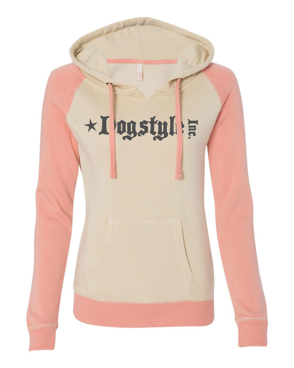 Ladies Pullover Sweatshirt - Sand/ Orangeade 00089