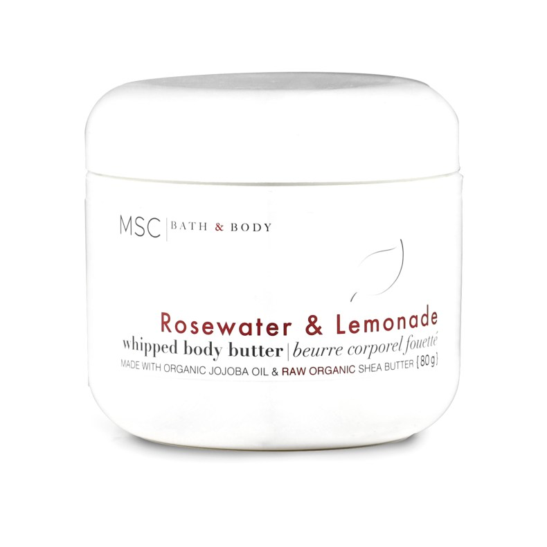 Rosewater & Lemonade Whipped Body Butter WBB-ROSEWATER