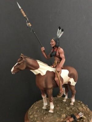 Mounted Lakota warrior, 1876.