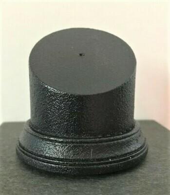 Black Pedestal Bust Base