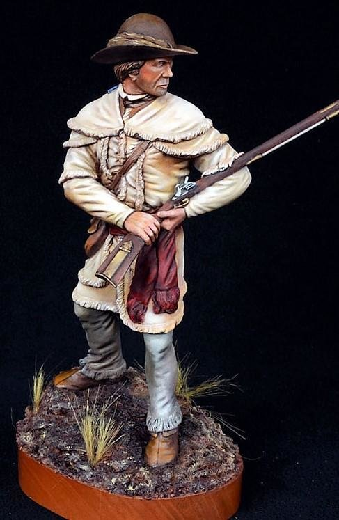 Continental Rifleman 1775-1781 180mm sculpted by John Jefferies