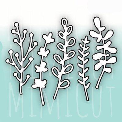 MIMICUT Metal Die 5 Leaves
