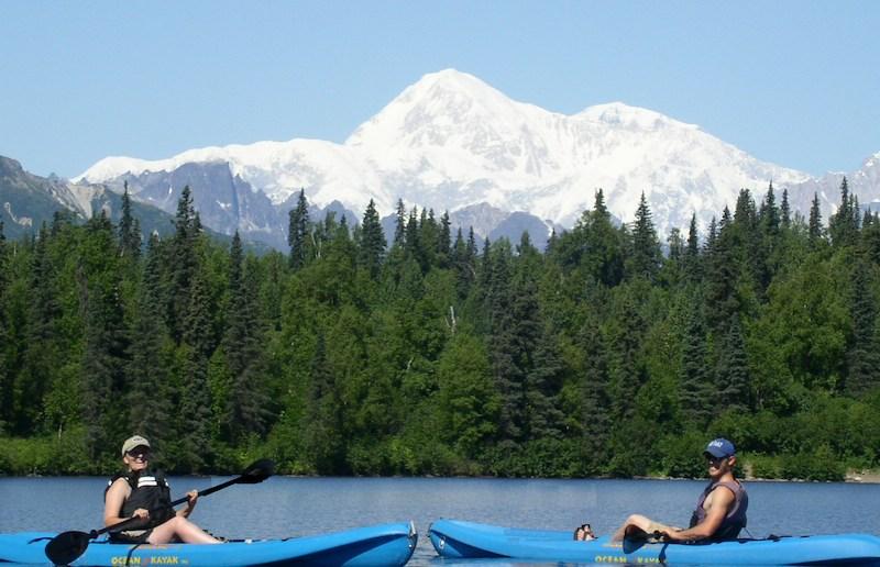 Kayaking under Denali