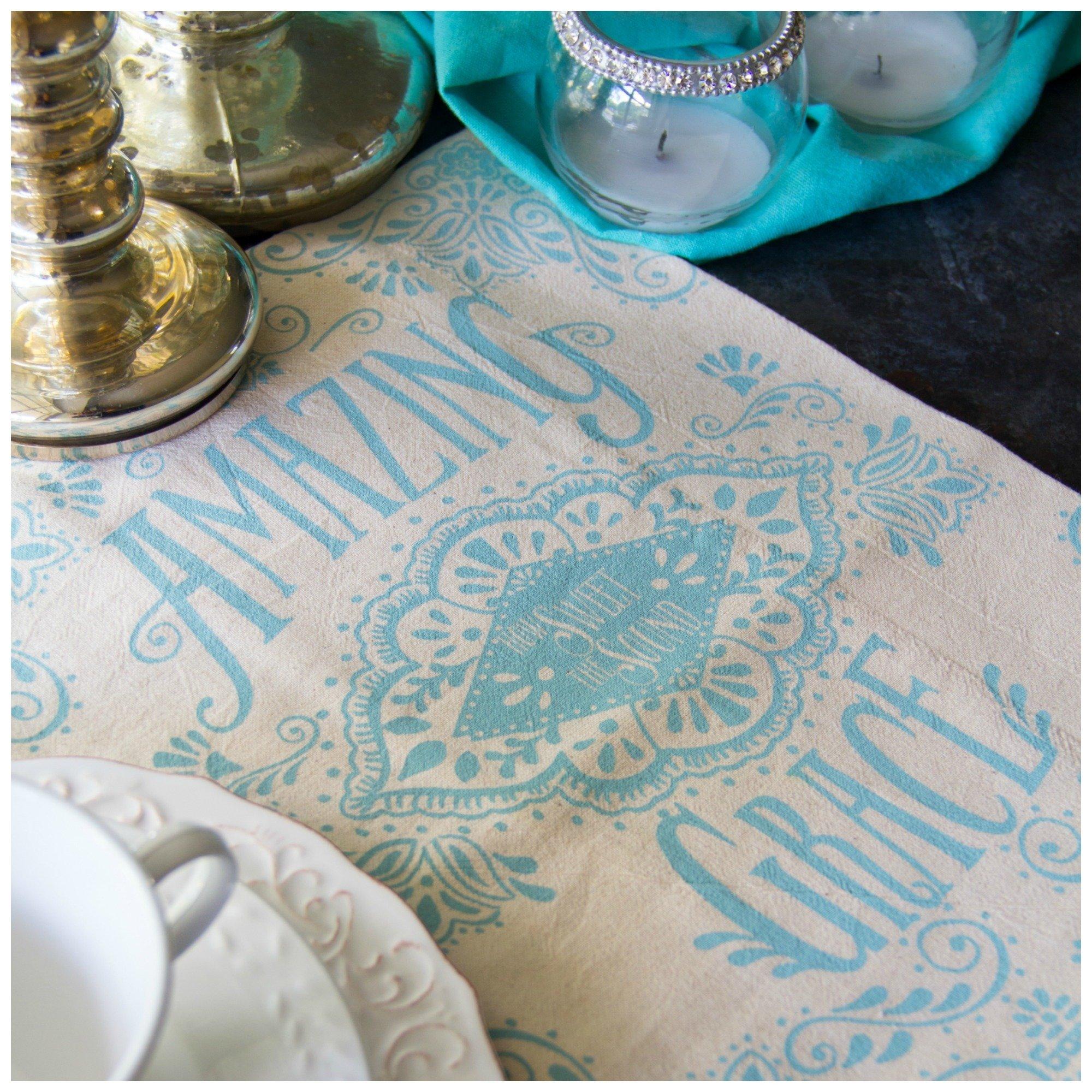 Amazing Grace Hymn Flour Sack Tea Towel 00002