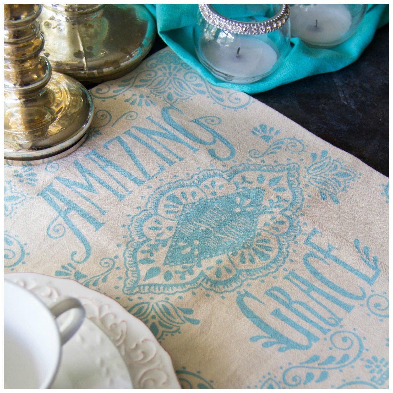 Amazing Grace Hymn Flour Sack Tea Towel