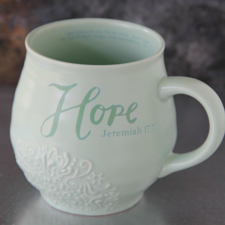 Hope Stoneware Scripture Mug