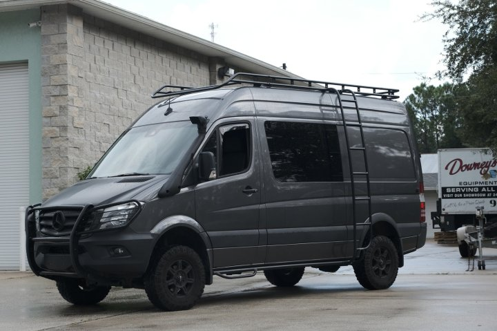 NCV3 Mercedes Sprinter Modular Expedition Style Drop Roof Rack
