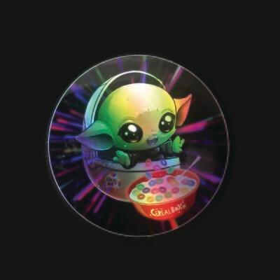 Shiny Metallic Baby Alien Sticker!