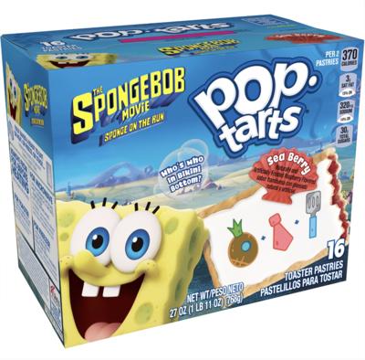 Pop-Tarts Spongebob Limited Edition, Sea Berry, 16 Toaster Pastries, 27 Oz