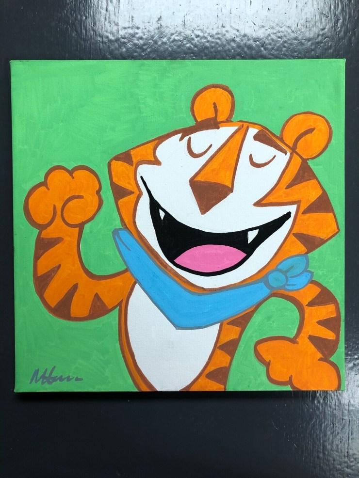 Hand Painted Tony The Tiger original art