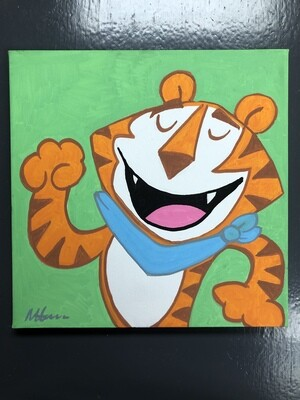 Hand Painted Tony The Tiger original art