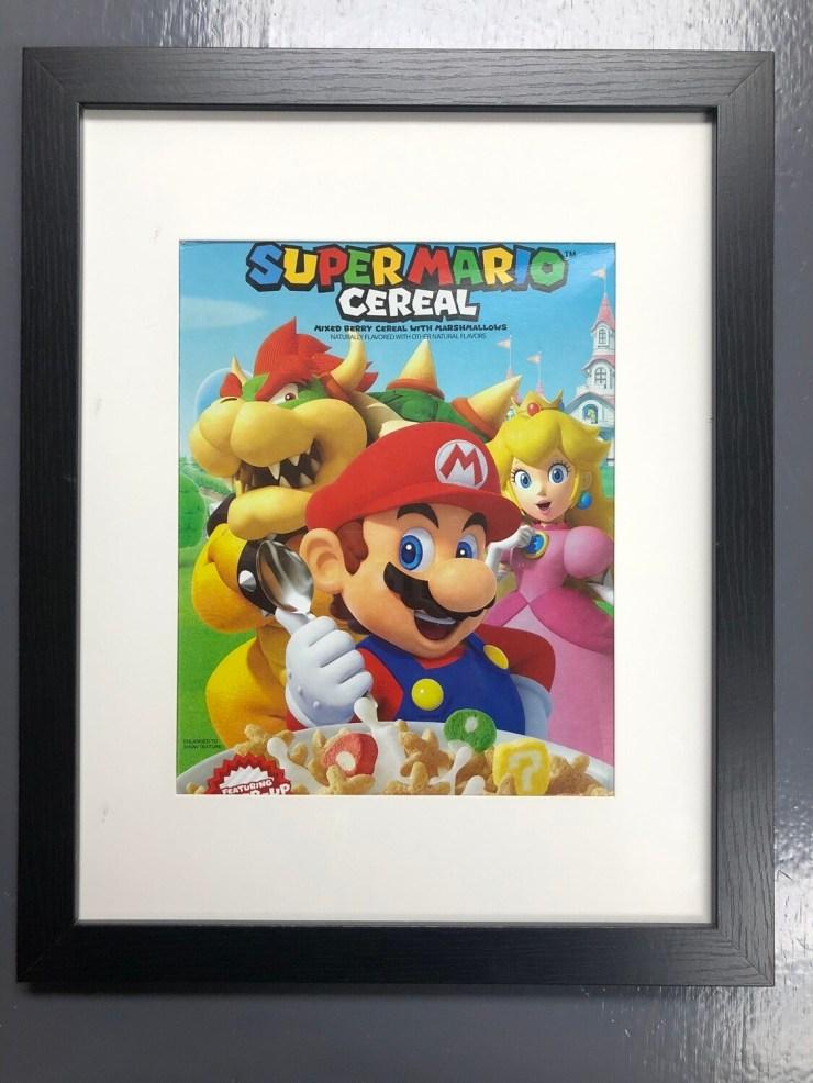 Kellogg's Super Mario Breakfast Cereal Marshmallow Box art