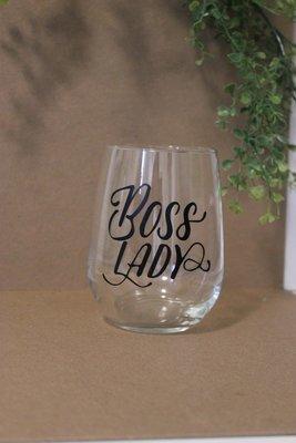 Wine Glass - Boss Lady