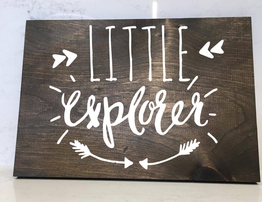 Little Explorer - 12x16 Wood Sign
