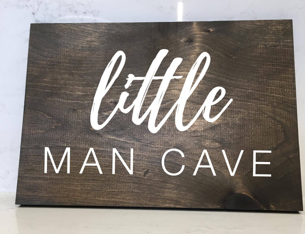 Little Man Cave - 12x16 Wood Sign 00167