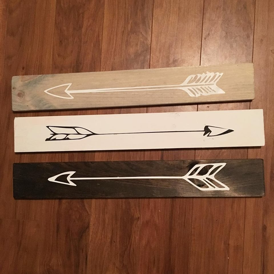 Arrow Wood Signs - 1 for $20 or 3 for $50