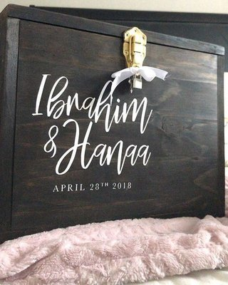 Wood Card Box | Weddings