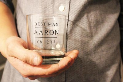 Groomsmen Custom Whiskey Glasses