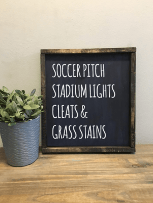 Soccer | Wood Sign