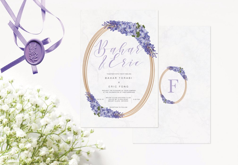 Lavendar Invitations 00250