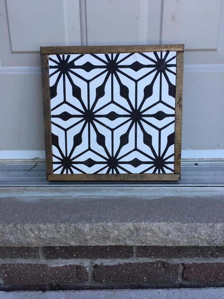 Mid Century Modern Tile | Wood Sign 00274