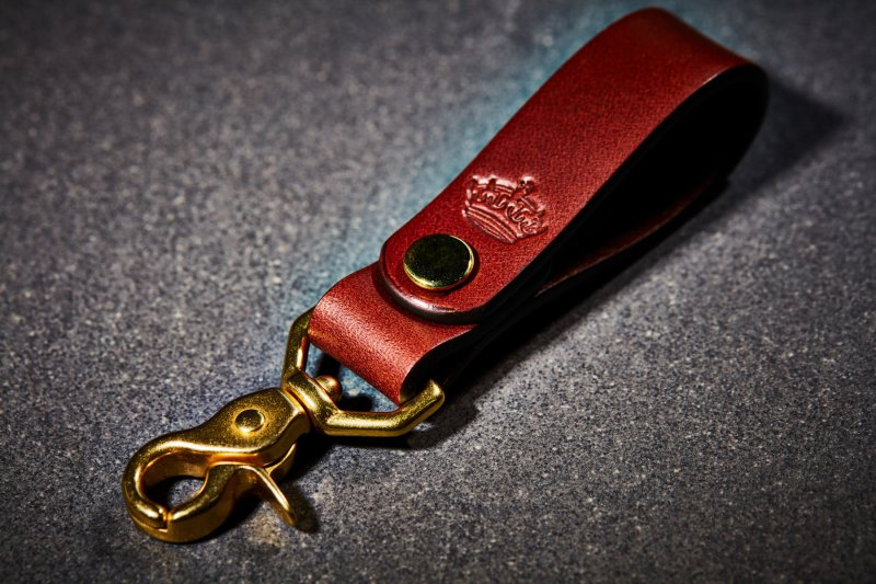 Imperial Crown Brown Leather Key Fob FOBBROWN