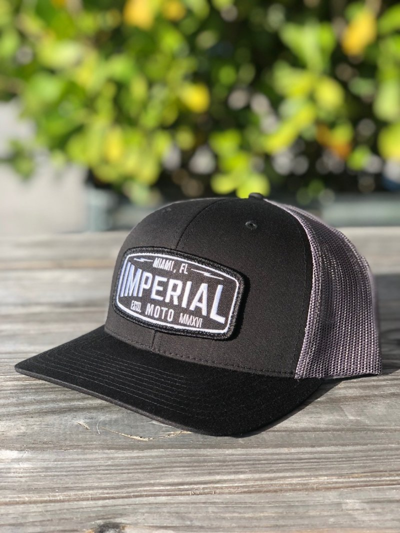Imperial Moto 2.0 Trucker - BLACK, CHARCOAL