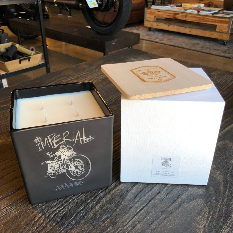 Jumbo Imperial Moto Candle - Cafe Racer