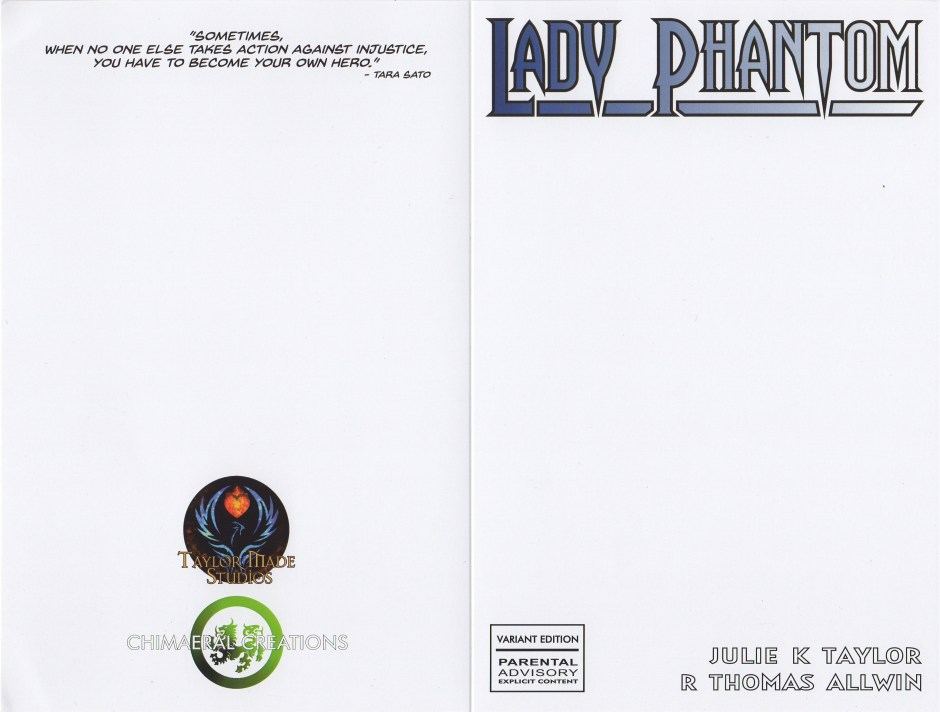 Lady Phantom #1 Commissioned Sketch Cover
