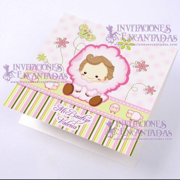 Invitación Bautizo BabySimple 01 InvBauSim01