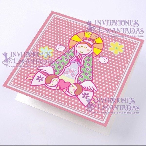 Invitación Bautizo BabySimple 07 InvBauSim07