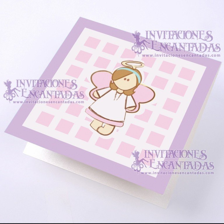 Invitación Bautizo BabySimple 09 InvBauSim09