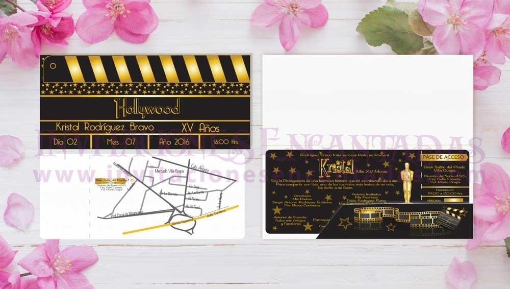Invitación Ticket con Porta Ticket 16