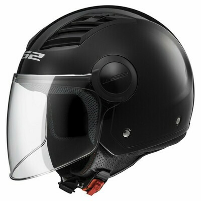 CASCO LS2 JET OF562 AIRFLOW col. NERO OPACO
