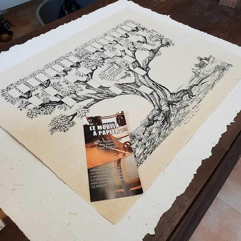 Arbre Généalogique 5 générations | Papier Pur Chiffon | Sainte-Suzanne